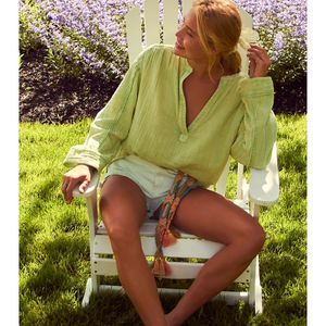 We The Free Anguilla Washed Pullover in Grape | XS